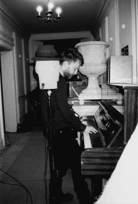 Radiohead's Thom Yorke and a dummy head for binaural recording